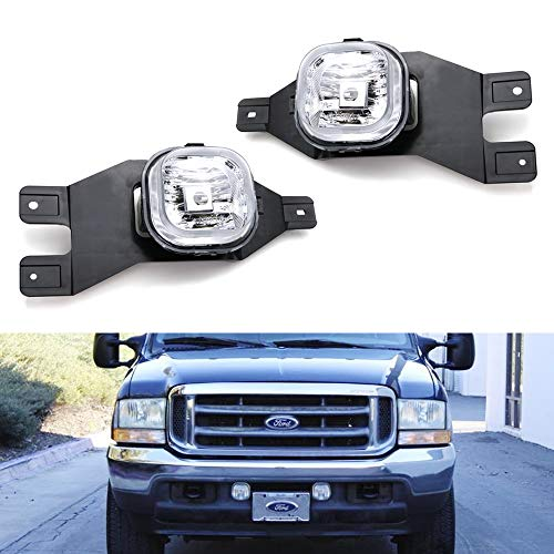 - iJDMTOY Clear Lens Fog Light Kit w/ 9145 Halogen Bulbs For 1999-2004 Ford F-250, 2001-2004 Ford F-350 F-450 F-550 Super Duty & Excursion