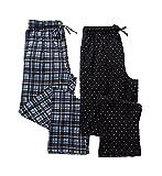 Hanes Big Man X-Temp Knit Lounge Pants - 2 Pack (4227B) 6XL/Black Assort