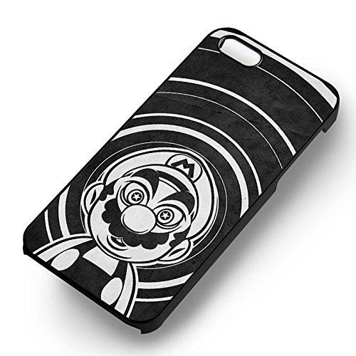 Super Mario Geek pour Coque Iphone 6 et Coque Iphone 6s Case (Noir Boîtier en plastique dur) R2Q7WF