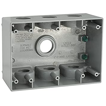 Hubbell Bell 5390 0 2 5 8 Inch Deep 3 Gang 7 Outlet 55 Cubic