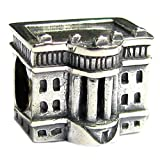 Sterling Silver America White House European Style Bead Charm