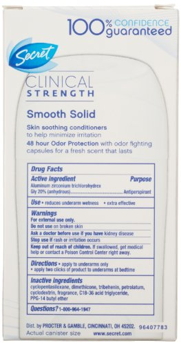 Secret-Clinical-Strength-Smooth-Solid-Waterproof-Womens-Anti-Perspirant-and-Deodorant-Ooh-La-La-Lavender-Scent-16-Oz