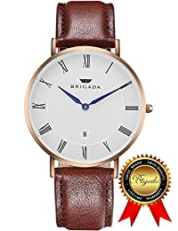 BRIGADA Swiss Watches Minimalist Waterproof Business Casual Quartz Watch for Men Women