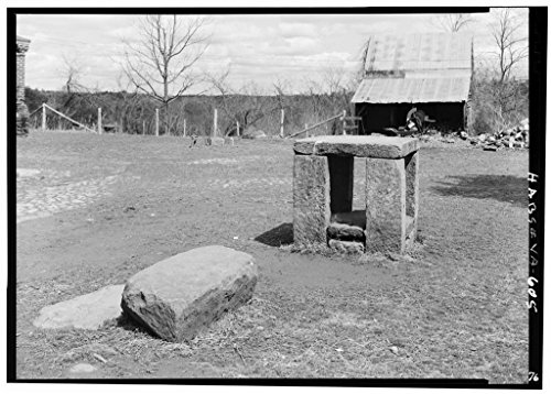 8 x 12 Photo of Green Hill Plantation, Slave Auction Block, State Route 728, Long Island, Campbell County, VA 1933 93a (Auction Slave Block)