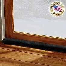 LAMINET - 100% Organic Natural - Black - Door & Window Draft Stopper - Made in USA