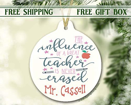 Teacher Gift, Personalized Teacher Ornament, Teacher Christmas Idea