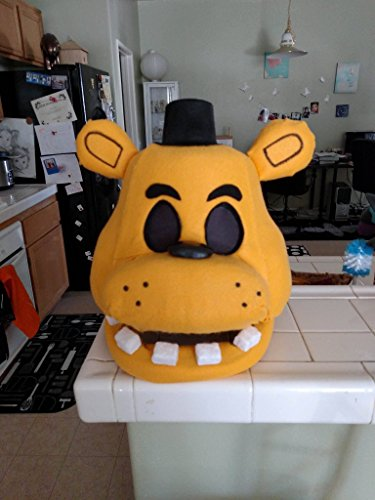 Golden Freddy FNAF Halloween/Costume Mask! Movable Jaw!! Five Nights at Freddy's! by Morsbane Goods
