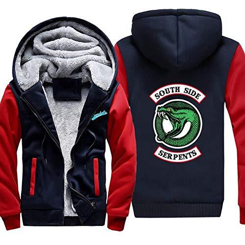 sevenjuly Winter Men's Fleece Hoodies Pullover Southside Warm Thick Zipper Hooded Sweatshirt