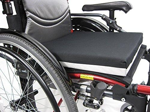 (Karman Deluxe Wheelchair Cushion, Black, 16