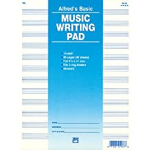 12 Staff Music Writing Pad (Loose Pages (3-hole punched for ring binders))