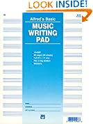 #10: 12 Staff Music Writing Pad (Loose Pages (3-hole punched for ring binders))