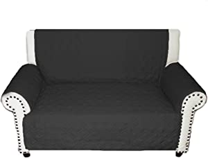RBSC Home Sofa Cover 100% Waterproof with Anti-Skip Back and Side Pockets for Leather Armchair Recliner Couch Pets Baby Dogs Cats Washable