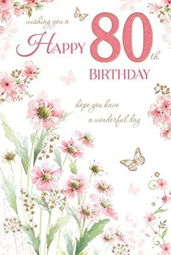 80 cumpleaños feliz cumpleaños 80th ochenta hembra hermosa ...