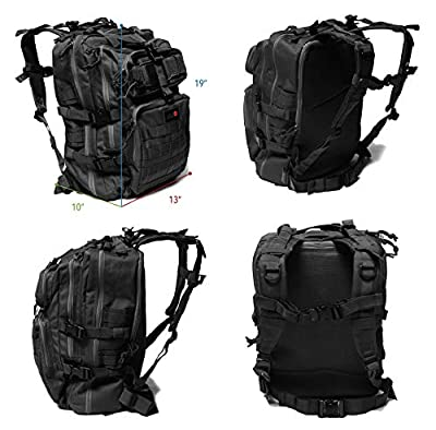 24BattlePack Tactical Backpack | 1 to 3 Day Assault Pack Expandable | 40L Bug Out Bag | Large Laptop Bag | Army Hiking Back Pack for Camping and Travel | Computer Case Day Pack | Military Ruck Sack