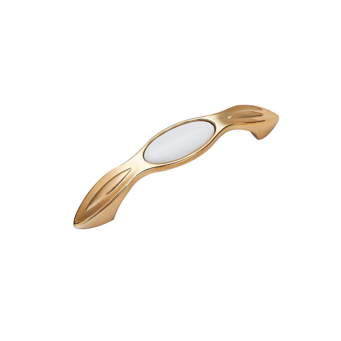 Autoly Cabinet Hardware Handle Pull Dresser Drawer Handle Pulls 2 Pack 3.8 Hole Centers 96mm Gold-White 1722-96K
