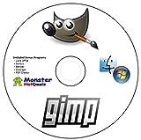 GIMP 2.8.14 DIGITAL PHOTO IMAGE EDITOR (BEATS ADOBE PHOTOSHOP) + BONUS PROGRAMS