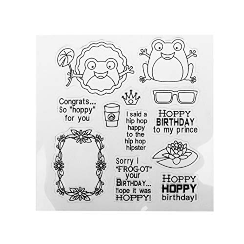 Huanban072 Hoppy Frog DIY Silicone Clear Stamp Cling Seal Scrapbook Embossing Album Decor for $<!--$3.58-->