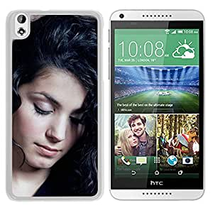 Beautiful Designed Cover Case With Katie Melua Wall Girl Look Brunette (2) For HTC Desire 816 Phone Case