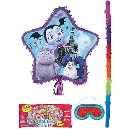 Party City Pull-String Vampirina Pinata Supplies, Include a Pinata, a Pinata Stick, a Blindfold, and 4 Pounds of Candy -