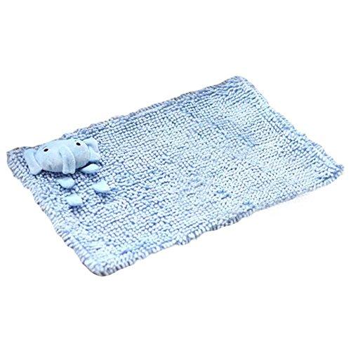 PANDA SUPERSTORE [Blue Elephant] Bath Rugs Doormat, 56 x 34 cm/22 x 13.3 inches