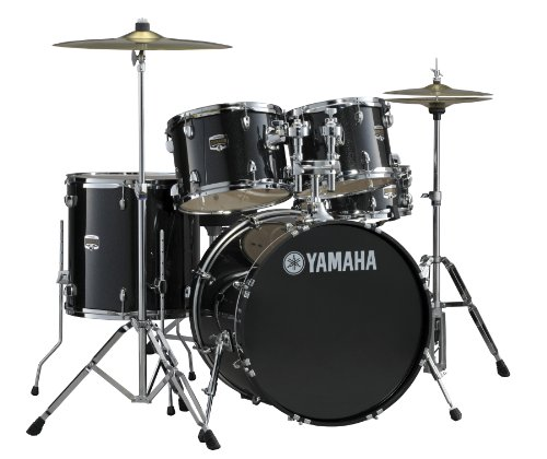 Yamaha Gigmaker 5 Piece Standard Shell Pack, Black Glitter