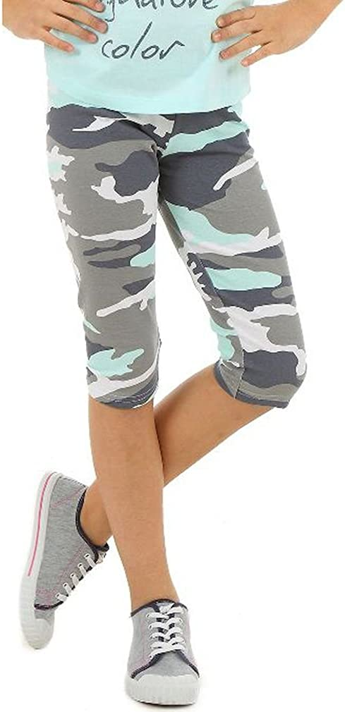 Dykmod 116-158 Girls 3//4 Capri Trousers Camouflage Pattern