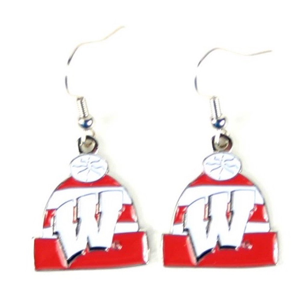 NCAA Womens NCAA Knit Hat Dangler Earrings