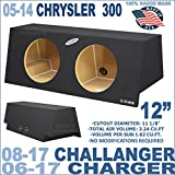 06-16 Dodge Charger, Challenger 08-15 & Chrysler 300 05-14 12'' Sub Box Subwoofer Enclosure