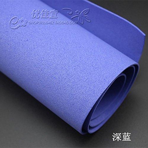 Esponja de goma espuma de papel, de papel, corte de papel, papel de color, DIY materiales artesanales,Azul profundo