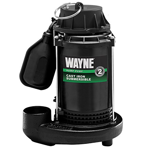 WAYNE CDT50 1/2 HP Cast Iron Submersible Sump Pump With Tether Float Switch ()