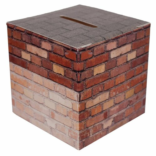 Sterling Gifts Bricks Fund Raising Donation Bank Box for Building , Mortgage - Pkg of 50