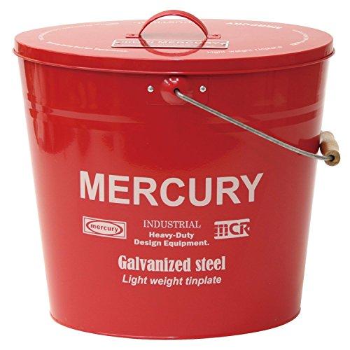 [해외]【 Mercury 】 머큐리 오발 물통 M 크기 Model No.C154 (레드) / [Mercury] Mercury oval bucket m size Model No.C154 (red)