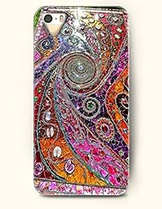 OOFIT Apple iPhone 5 5S Case Moroccan Pattern ( Retro Colorfu Swirl Mosaic )