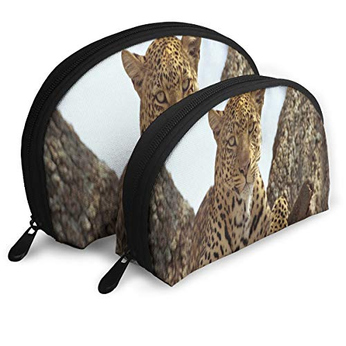 Makeup Bag Spotted Panther Wild Life Portable Shell Storage Bag For Girlfriend Halloween Gift 2 -