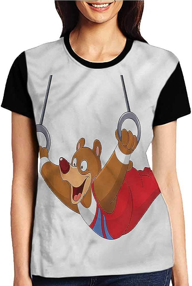 Printed Short Sleeves,Olympics,Lanes of Running Track Sky S-XXL Baseball T-Shirt Tee Tops