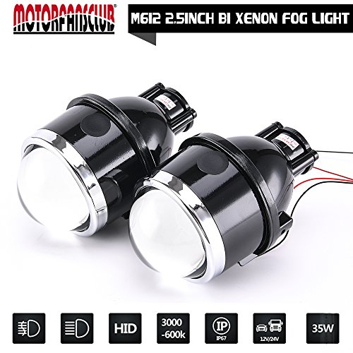 Universal 2.5 inch Waterproof Fog Lamp Bi-xenon Fog lights Projector Lens For Car Motorcycle
