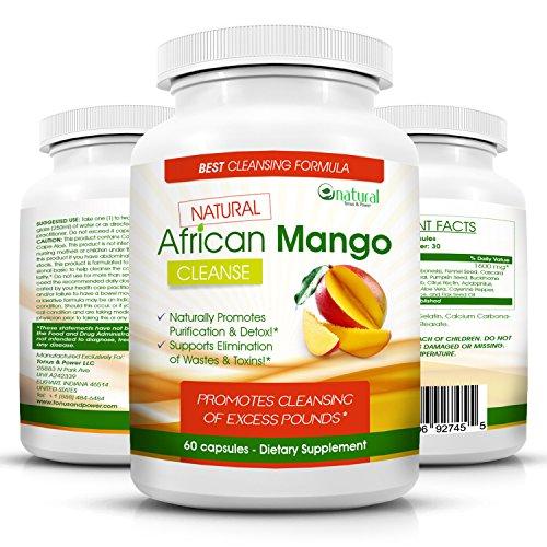 Mango Africano natural limpiar - milagro en una botella peso pérdida dieta píldoras que realmente funcionan rápido para mujer y hombre - 100% puro Extracto de Mango Africano Real con antioxidantes para quemar la grasa...