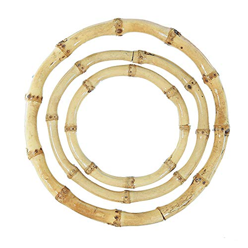 Craft County Natural Crafting Bamboo Rings - for Macramé, Jewelry Making, and Dreamcatchers (8 Centimeters)