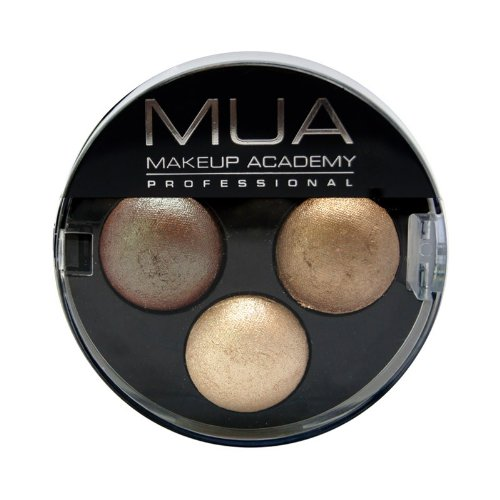 MUA Trio Eyeshadow Innocence-Nudes-brown, gold, cream-NEW FB BEAUTY DLJ01