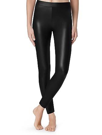 49b743c674533b Calzedonia Womens Thermal Leather Effect Leggings: Amazon.co.uk: Clothing