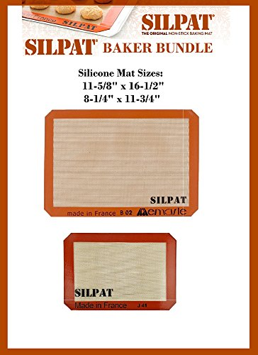 Review Silpat Bakers Bundle (US Half Size 11-5/8″ x 16-1/2″ Silicone Baking Mat & 8-1/4″ x 11-3/4″ Jelly Roll)