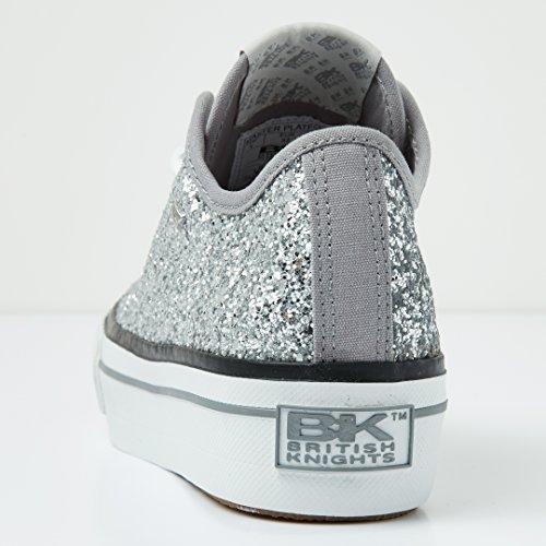 Donne Bassa Argento Platform Master British Sneakers Knights SIxCUU