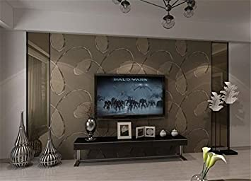 Braune Tapete Wohnzimmer | Xzzj Moderne Und Minimalistische Wand Der Wohnzimmer Tv Tapete Vlies