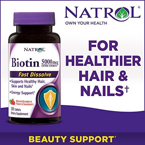 Natrol Biotin Extra Strength Dietary Supplement - 5000mcg /250 Ct.