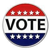 PinMart Vote Patriotic Political Election American Flag Enamel Lapel Pin