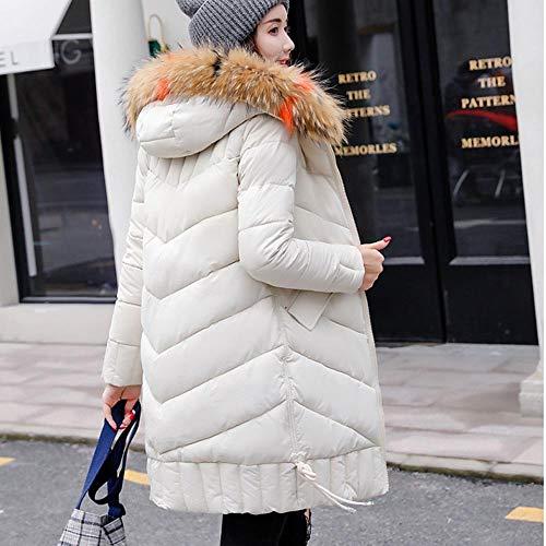 Capuchon Femmes Zzzz Vêtements À En Coton Veste Hiver Pour Femme Automne Épais Blouson Blanc Manteau Chaud 77zUBp