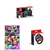 Nintendo Switch - Grey with Mario Kart 8 Deluxe and Two Official Joy-Con Steering Wheels