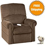 Serta Perfect Lift Chair Plush Comfort Recliner w/ Gel-Infused Foam Relieves Key Body Pressure Points - Ergonomic LED Hand Control w/ USB Port for Charging Phones. Lifetime Warranty (Chocolate)