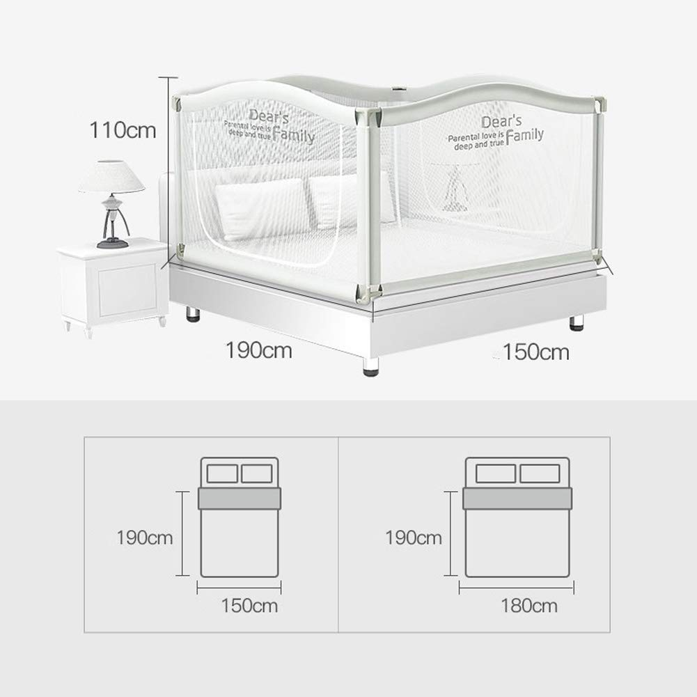 Anti-Falling Bed for Baby/Toddler/Children, Guardrail Heightening Crib, Anti-Drop Bed Guardrail, Child Shatter-Resistant Fence, Baby Bed Fence … (1.8m(70.9'') Width) by YU KEN (Image #8)