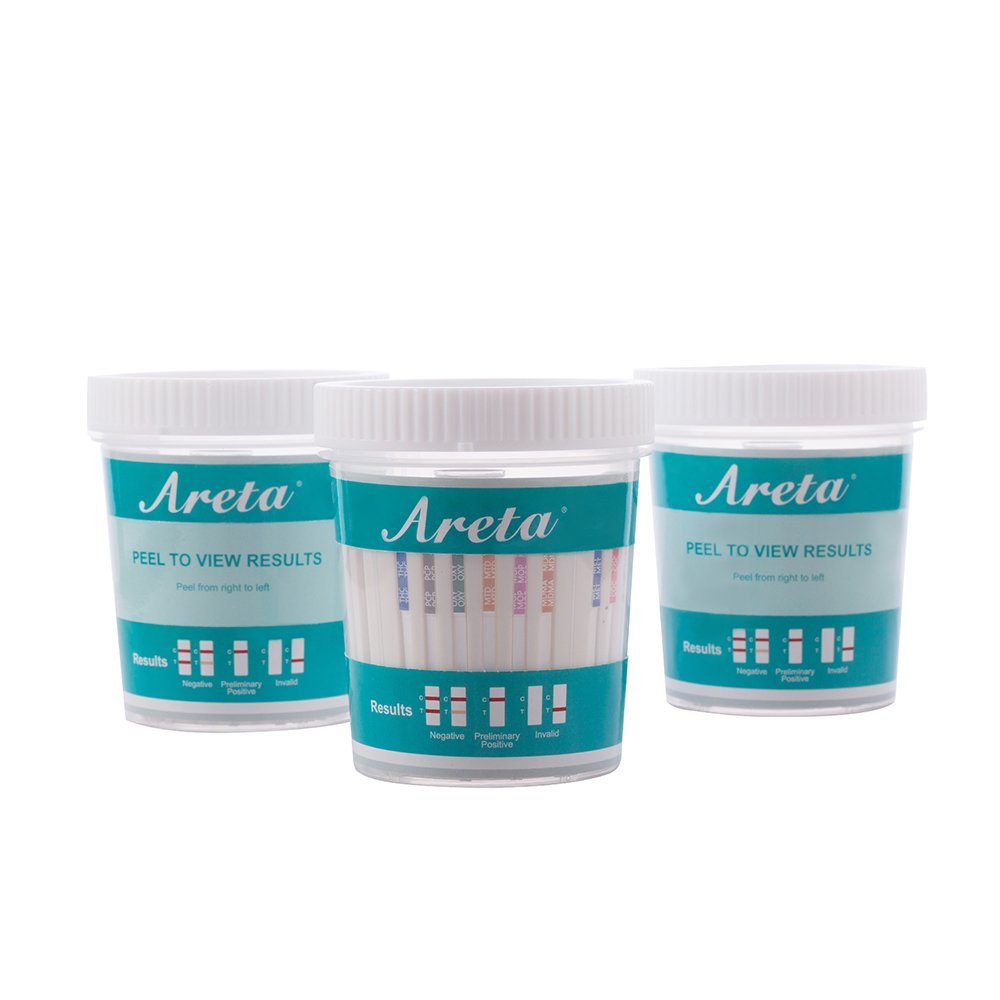 100 Pack Areta 12 Panel Instant Drug Test Cup -Testing Instantly for 12 Different Drugs:BUP,THC,COC,MOP,MET,OXY,AMP,BAR,BZO,MTD,MDMA,PCP- #ACDOA-6125B by Areta (Image #4)